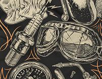Illustration New Merch Kluster Moto Hub & Community