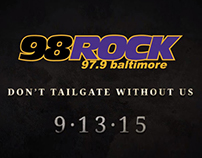 98 Rock Baltimore Ravens video