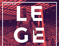 Ryan Giggs Legend - Duotone poster