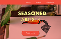 Seasoned artists landing page