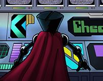 Super Space Slacker - Menu Designs