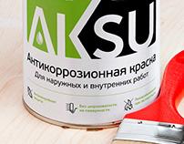 Брендинг и дизайн этикетки для краски Aksu