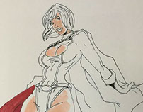 Power Girl (Copic Marker Test 1)