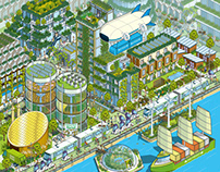 Megacity 2050: Bloomberg Businessweek Illustration
