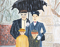 Mary Poppins on rainy day