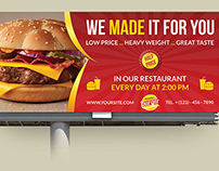 Burger Restaurant Billboard Template Vol.5