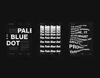 Pale Blue Dot - Typographic Poster Series