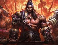 WoDEmpire. Website design for World of Warcraft server
