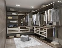 3d render wardrobe