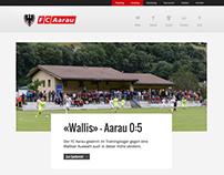 Redesign der Website von FC Aarau