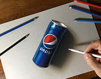 3D drawing Pepsi can