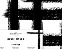 Sushi Dinner Menu + Placemat