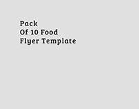 Pack of 10 Food Flyer Template
