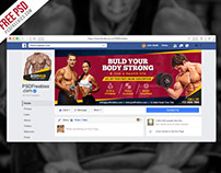 Free PSD : Fitness Gym Facebook Fanpage Cover PSD