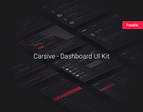 Carsive Dashboard UI Kit - Freebie