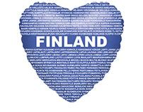 I Love Finland - Foil balloon concept