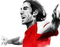 Arsenal FC player illustrations