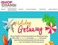 iShopChangi Holiday Getaway EDM & Moodboard