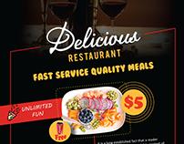 Restaurant & Bar Flyer
