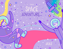 The Space Adventure - Illustration Project