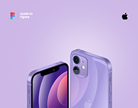 iphone 12 illustration made in figma