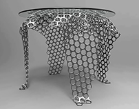 Mesh coffee table concept.
