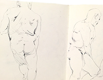 Figure Sketches From Winter 2018