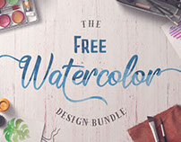 FREE Watercolor Design Bundle