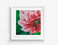 Flower Painting ( Plaka Style)
