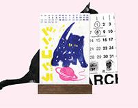 4 illustrators collaboration calendar 2019