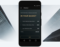 Design concept of credit card ui / android