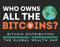 Who owns all the bitcoins, data vis infographic
