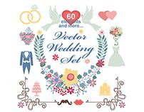 Wedding Floral vector decor Bundle