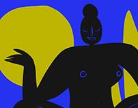 Women's triptych