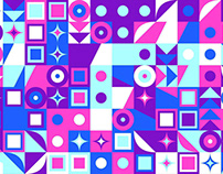 FREE Vector: Chaotic Random Mosaic Pattern Background