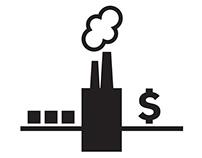 Symbols Representing Factory Work