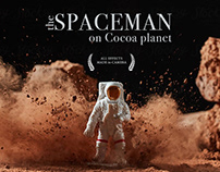 Spaceman on Cocoa planet