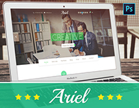 Ariel - Website PSD Template by Holiday Designs