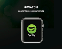 Concept redesign interface Spotify iWatch