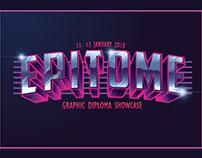 EPITOME (Graphic Uitm Si Diploma Showcase) Logo/Poster