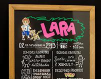 Lara • Quadro + Posca
