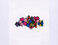 Vibrant Flowers Digital Embroidery Design