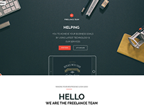 Freelance Team - Portfolio & Shop WordPress Theme