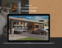 Web-site design for residential complex Hygge Home