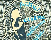 Cinemed | linocut poster
