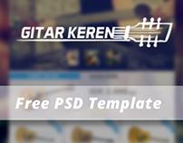 Gitar Keren - Free PSD Template