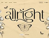 Free Font - Allright