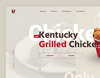 New homepage of well-know restaurant. Redesign Concept