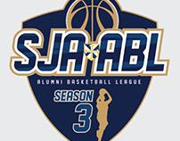 SJA Alumni Basketball League Logo and collaterals