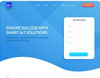 IoT Landing Page Design | UI/UX Design